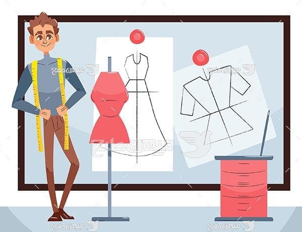 وکتور طراح لباس