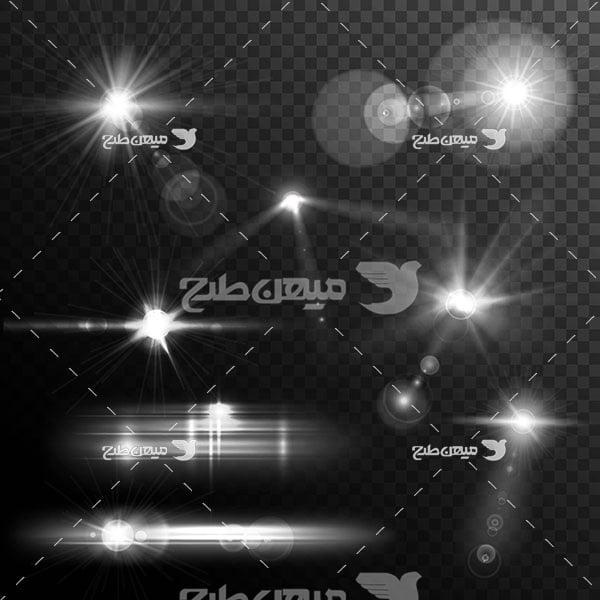 وکتور کاراکتر نور سیاه و سفید