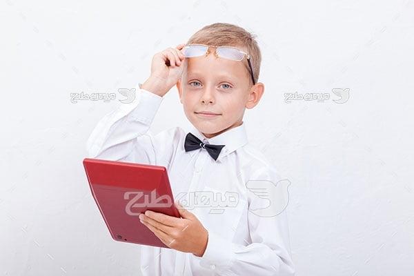 عکس پسر بچه دانش آموز