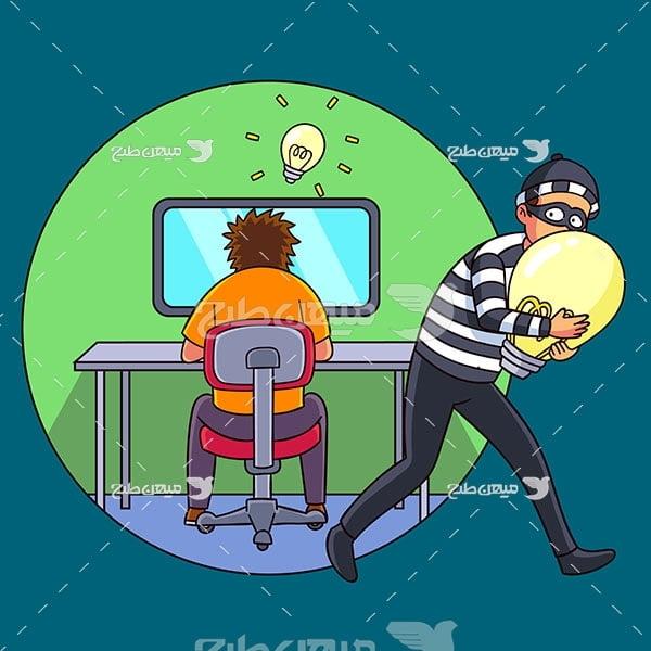 وکتور دزدی اطلاعات و ایده ها