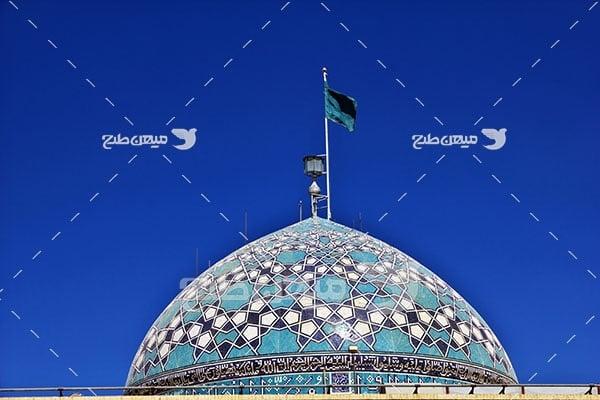 عکس گنبد مسجد امام زاده جعفر یزد