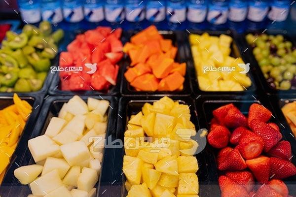 عکس میوه های خرد شده