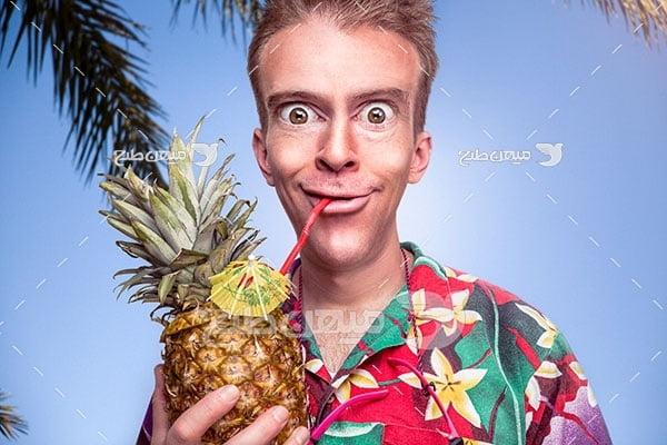 عکس آناناس میوه استوایی