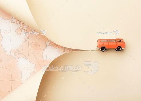عکس مسافرت با ماشین