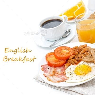 عکس تبلیغاتی غذا صبحانه انگلیسی