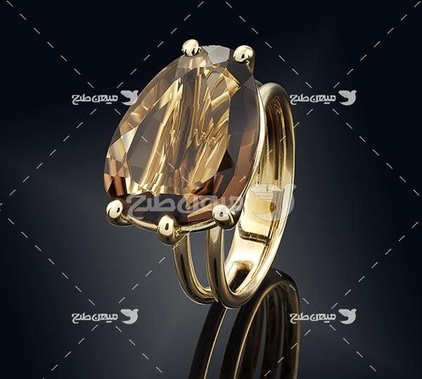 عکس تبلیغاتی جواهرحلقه الماس بزرگ