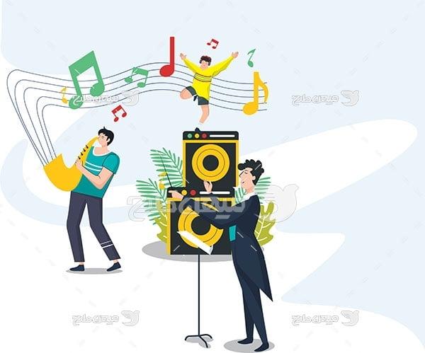 وکتور اجرای زنده موسیقی