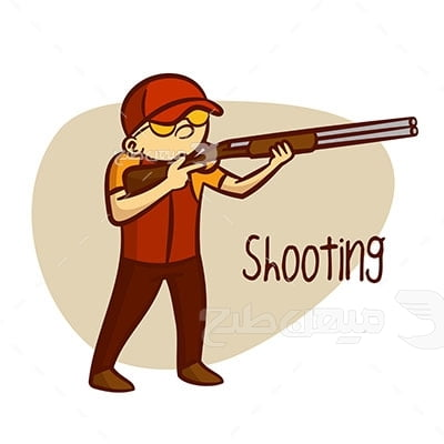وکتور ورزش تیراندازی با تفنگ
