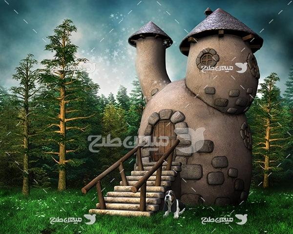 عکس خانه جنگلی انیمیشنی