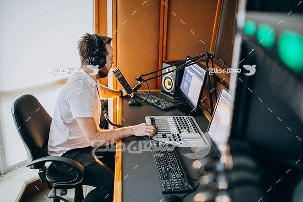 عکس استودیو صدا برداری