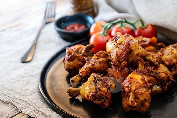 عکس تبلیغاتی غذا و کباب مرغ