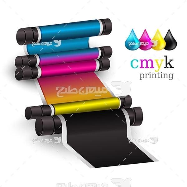 وکتور رنگ اصلی چاپ