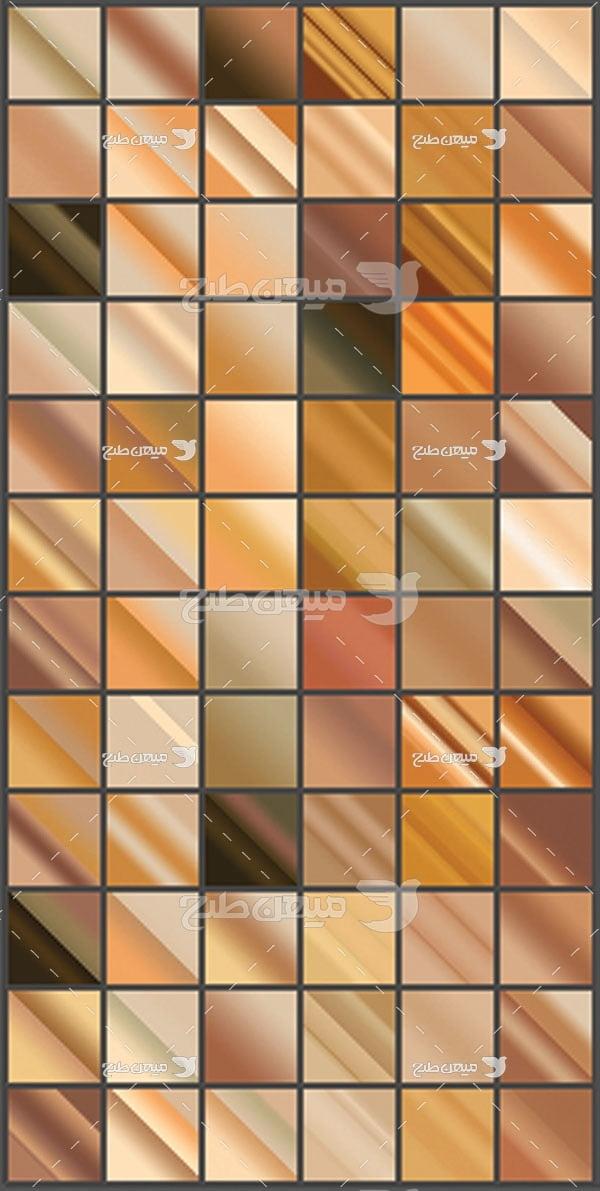 مجموعه ابزارهای فتوشاپ گرادینت طیف مورب قهوه ای