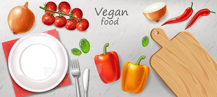 وکتور کاراکتر غذا تخته گوشت