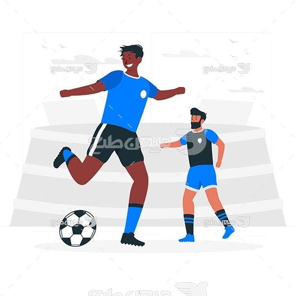 وکتور مسابقه فوتبال