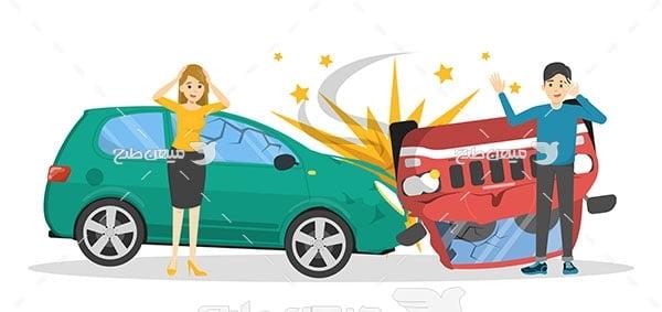 وکتور تصادف اتومبیل