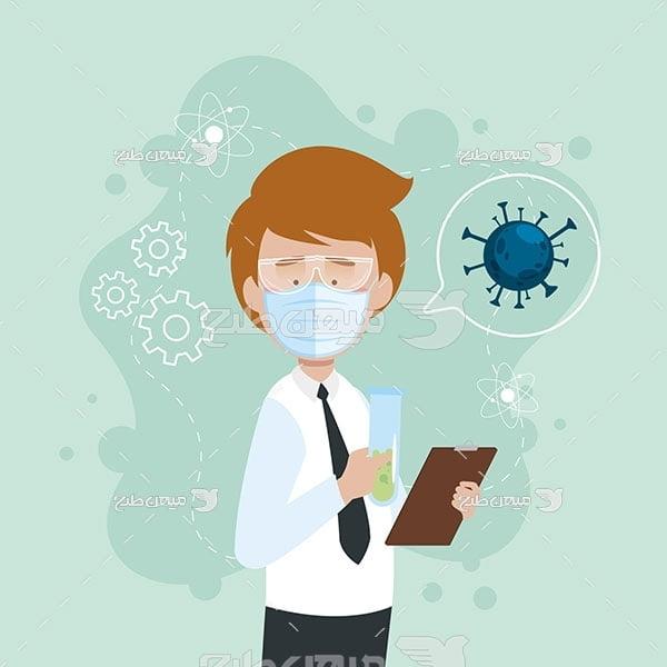 وکتور کادر درمانی کرونا