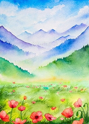 وکتور کاراکتر طبیعت و نقاشی جنگل