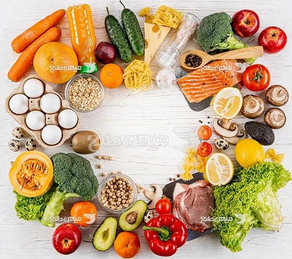 عکس سبزیجات و پروتئینی