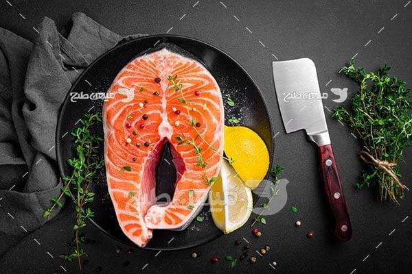عکس تبلیغاتی ماهی خام