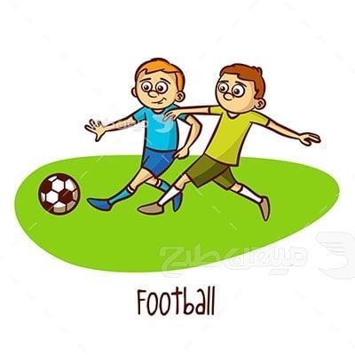 وکتور ورزش فوتبال جوانان
