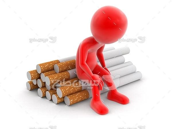 عکس پشیمانی از اعتیاد به سیگار