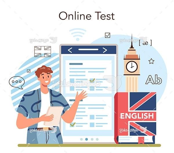 وکتور تست آنلاین زبان