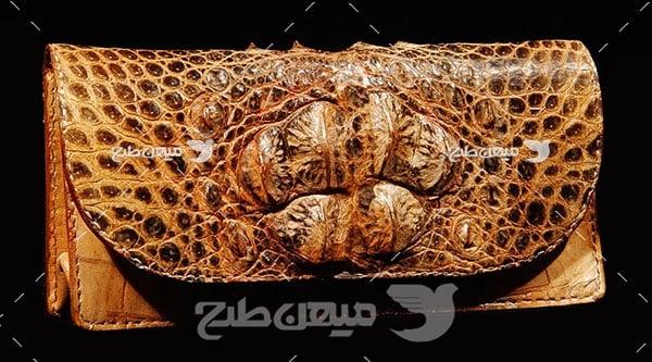 عکس تبلیغاتی مد کیف چرم حیوانی