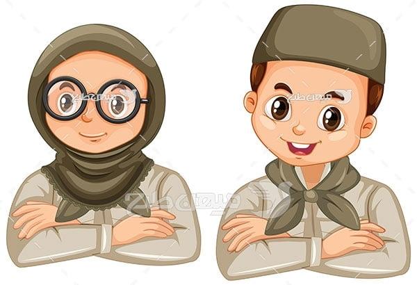 وکتور مرد و زن ایرانی