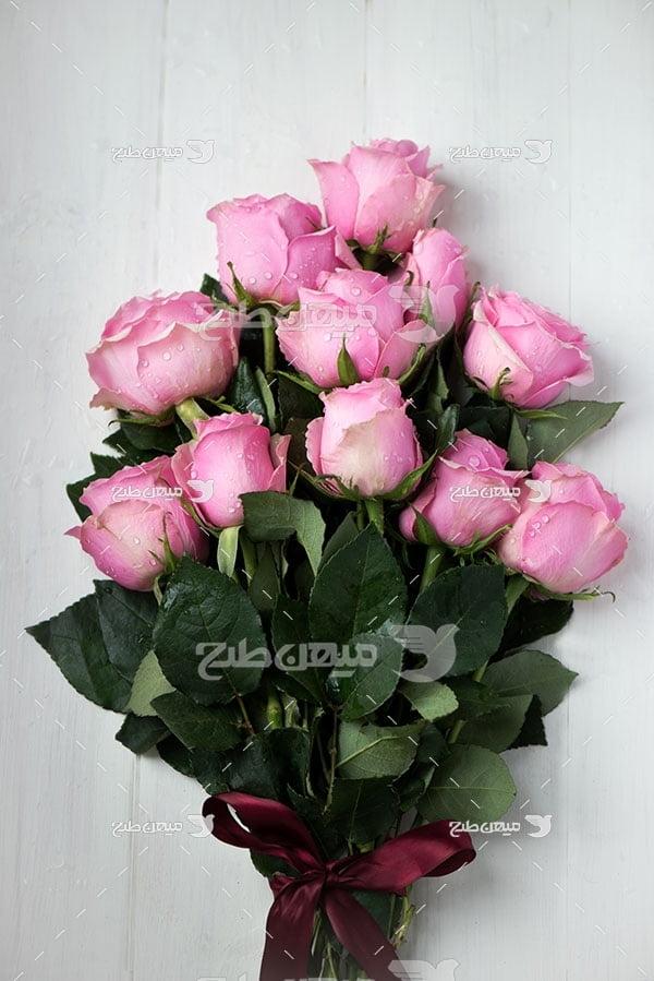 عکس دسته گل رز زیبا