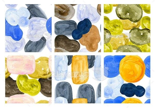 مجموعه ابزارهای فتوشاپ پترن طرح سنگ نقاشی