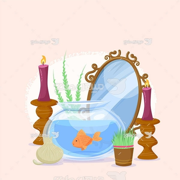 وکتور تنگ ماهی عید