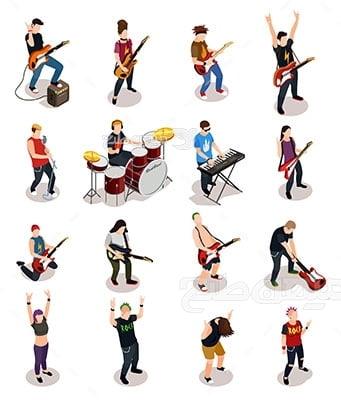وکتور کاراکتر انواع موسیقی