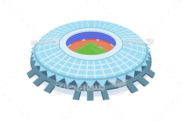 وکتور استادیوم فوتبال دایره ای