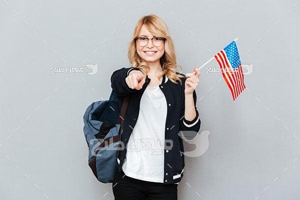 عکس دانشجوی زبان انگلیسی
