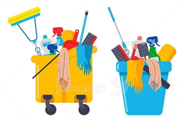 وکتور کاراکتربهداشت و تمیز کننده ها