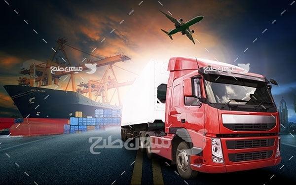 عکس تبلیغاتی حمل نقل