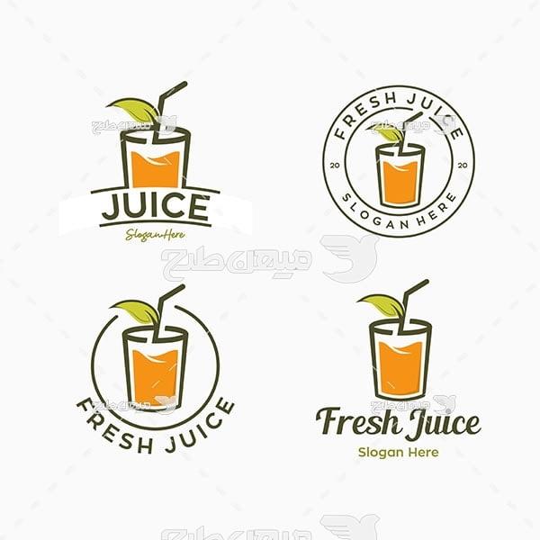 لوگو و آیکن آب میوه طبیعی