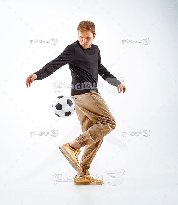 عکس  مرد فوتبال دوست