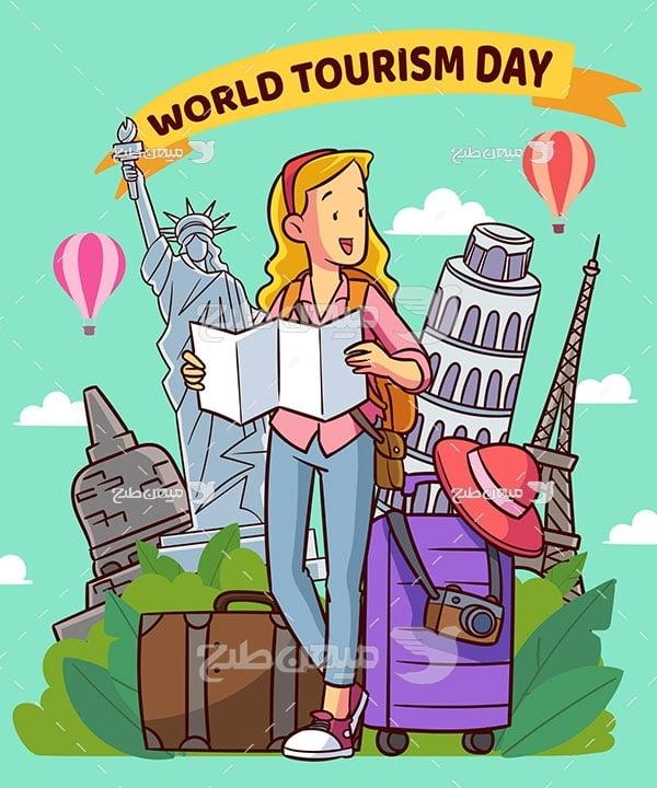 وکتور گردشگری و مسافرت