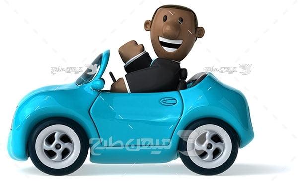عکس ماشین عروسکی آبی