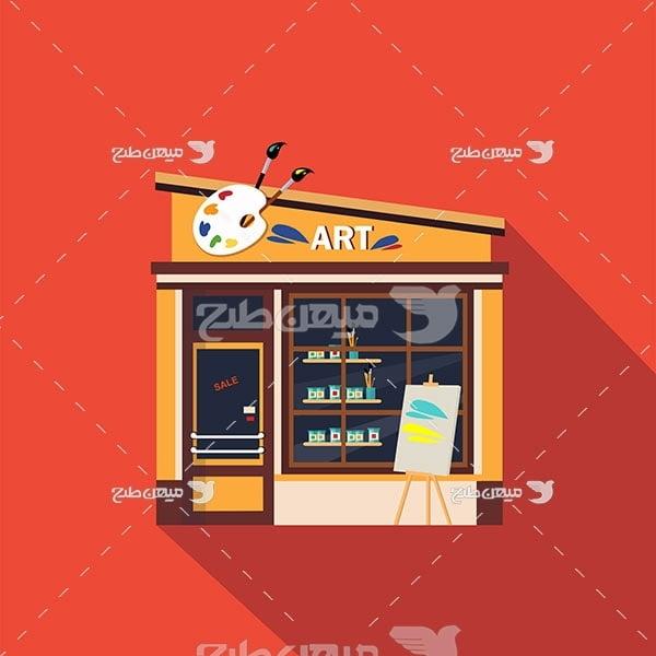 وکتور فروشگاه تابلو نقاشی و هنری