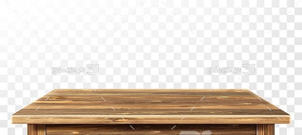 وکتور میز چوبی