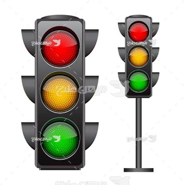 وکتور چراغ های راهنمایی و رانندگی