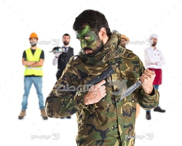 عکس سرباز مسلح