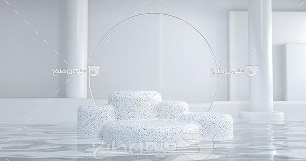 عکس بک گراند مدل مینیمال سفید