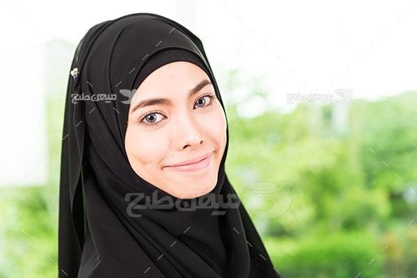 عکس تبلیغاتی پرتره حجاب