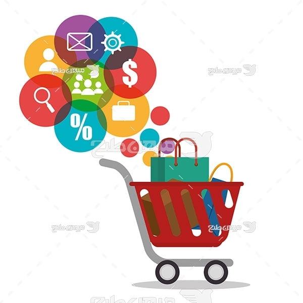 وکتور سبد خرید آنلاین