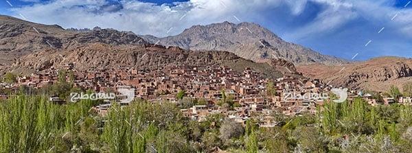 عکس روستای ابیانه قرمز اصفهان
