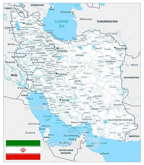 وکتور نقشه جمهوری اسلامی ایران